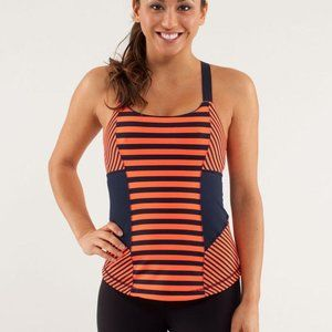 Lululemon Work It Out Tank Top Sea Stripe